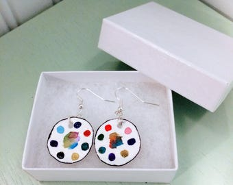 Watercolor Earrings