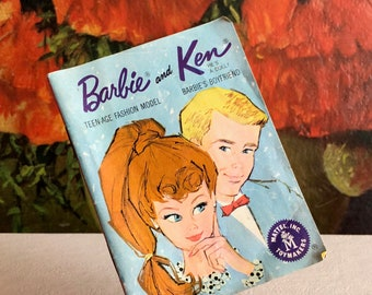 Barbie and Ken Booklet Clothes Catalog Mail Order Outfits 1962 Vintage Distressed Ephemera