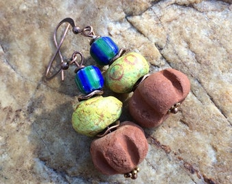 Boho Clay Bead Earrings