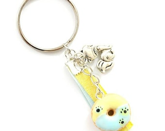 Keychain ~ colorful Donuts with bi cats paws