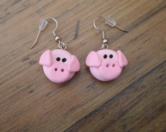 Polymer Pig Earrings