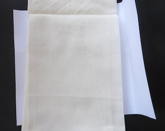 """Moda Kitchen Towels Natural x 2 - 17"""" x26""""  Ready For You To Add Your Own Personal Touch"""