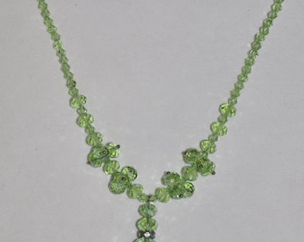 Necklace Green Crystal #480 One Of A Kind