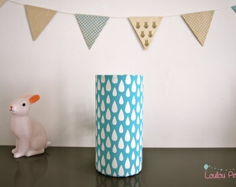 Lamp drop white - blue