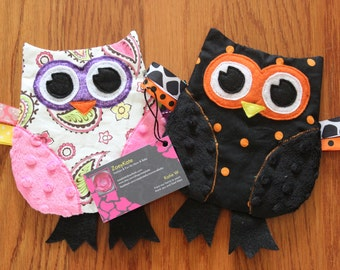 Customized Girls Owl Crinkle Toy Christmas Gift for Babies