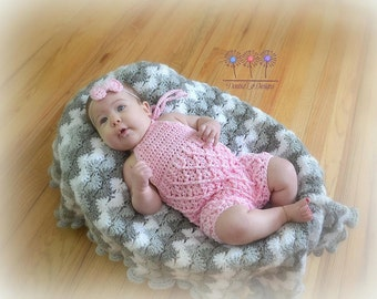 Crochet Pattern for Harlequin Baby Pants, Shorts, Romper, or Overalls - Multiple Sizes - Welcome to sell finished items