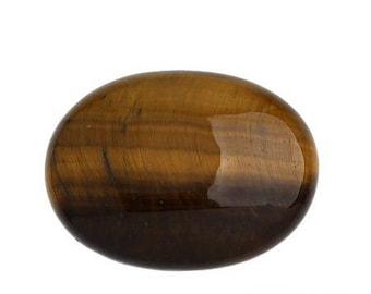 Tiger eye: 1 25 * 18 mm natural stone cabochon