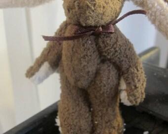 Vintage 90's miniature brown bunny