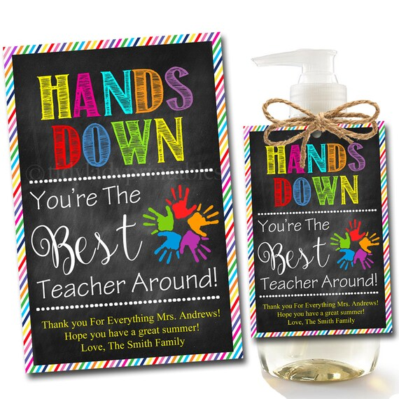 EDITABLE Soap Label Tags End of School Year Teacher Gift