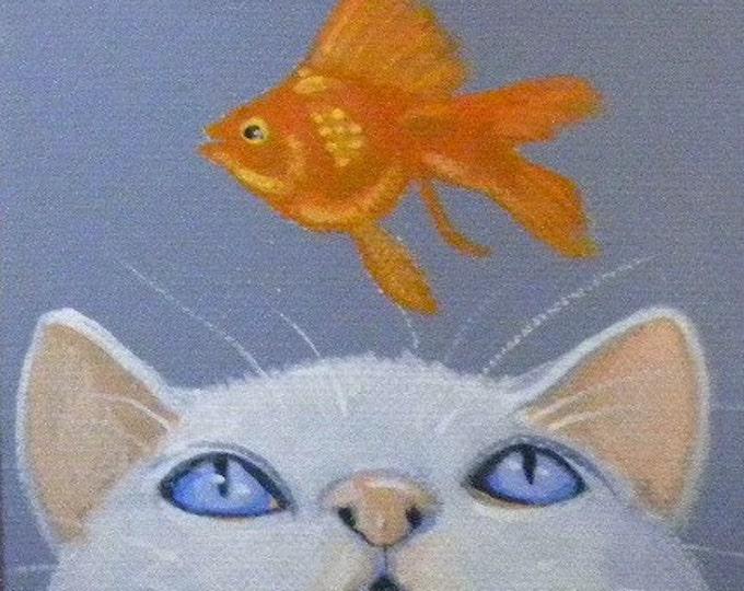 Fish Wish greeting card blank inside