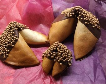 Giant Fortune Cookies  -  Chocolate and Caramel Crisp
