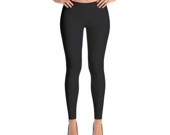 Black Leggings, Black Yoga Pants, Black Capri Leggings, Black Ankle Length Leggings, Athleisure Leggings,  Sizes XS- XL