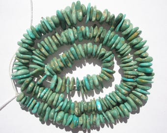 """Genuine Campo Frio Turquoise nugget Beads - 7-10x1.5-3mm - 16.25""""Strand"""