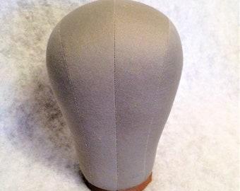 Vintage Milliner's Hat Form Mannequin Head Size 23