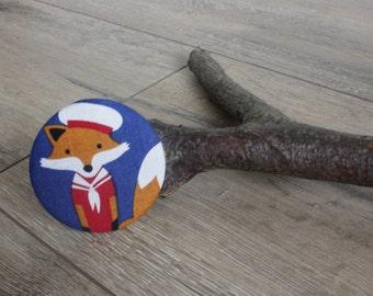 Sailor fox mirror, fox gift, fox print, fox lover gift, nautical gift, nautical print, compact mirror, pocket mirror, make up mirror