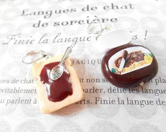 Earrings polymer clay chocolate treats.