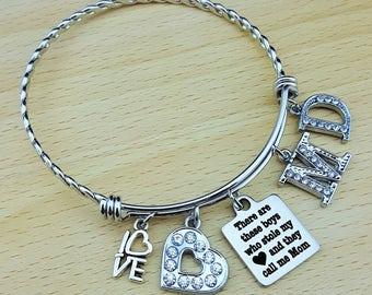 Mom Bracelet Mom Jewelry Gift for Mother Mom Gifts Mom Bracelet with Kids Names Bracelet for Mom Mothers Day Gift Mother Gift Charm Bracelet