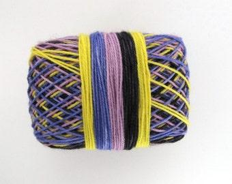 "SELF-STRIPING Superwash Merino/Nylon Hand-Dyed Sock Yarn -""Electric Feel"" Colourway"