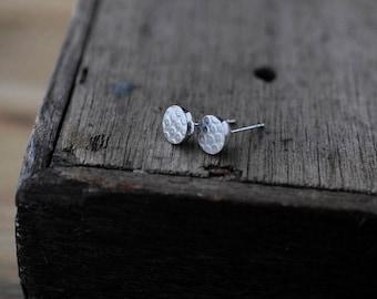 Lily Pod silver studs