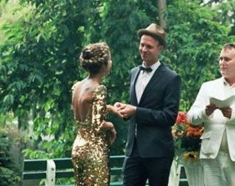 Sequin wedding gown-