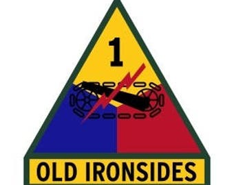 US Army 1st Armored Division Patch Vector Files, dxf eps svg ai crv