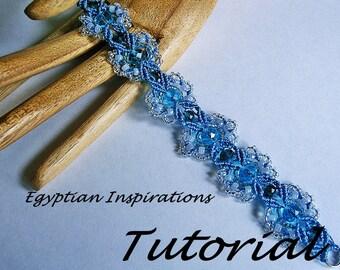 Micro macrame tutorial pattern. Beaded bracelet pattern. Macrame pattern.