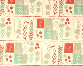 Cotton + Steel August, Mezzanine, Coral and Cream, Sarah Watts, per half-yard