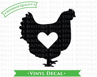 I Love Chickens VINYL DECAL