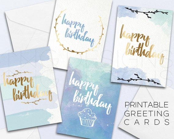 Happy Birthday Greeting Card Printable Cards Stationary