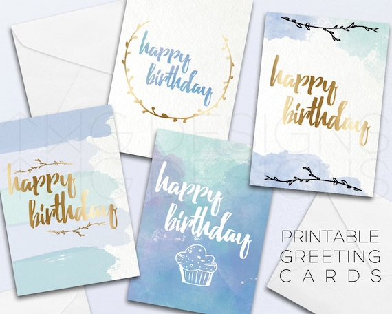 Happy birthday greeting card printable cards stationary m4hsunfo