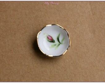 Rose gold miniature ceramic bowl x 1