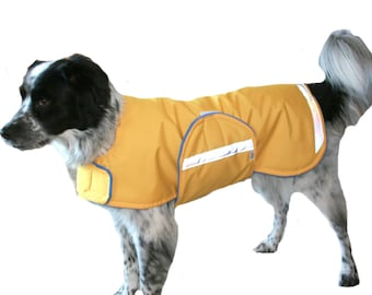 Winter Dog Coat, custom dog coat, waterproof dog coat, adjustable dog coat, coat for dogs with reflective strips