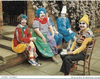 Vintage Kitsch Colourful 1970s Postcard - Kilsby Clowns
