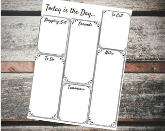 To Do List, Today is the Day, Motivational To Do List, Weekly To Do List, Printable Weekly To Do, Daily Organizing, Daily Organization