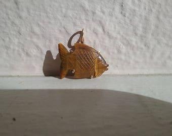 Amber Fish Pendant