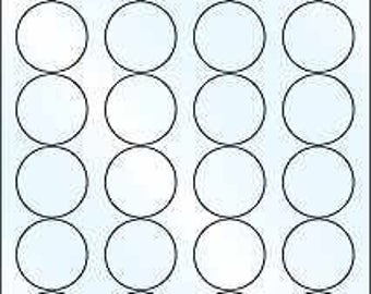 """10 sheets White Gloss Inkjet round labels Self adhesive 1.65 """"by 24 sheet OL325WG"""