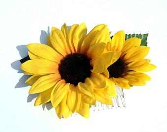 Sunflower Hair Clip, Sunflower Hair Comb, Sunflower Wedding, Daisy Hair Clip, Sunflower Hair Piece, Sunflower Wedding Head Piece, Hair Clip