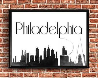 Philadelphia Print | Philadelphia Skyline | Philadelphia Poster | Philadelphia Wall Art | Philadelphia Wall Decor | Philadelphia Decor