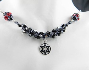 "SW Empire Villain Beadweaving Necklace ""The Dark Side"""