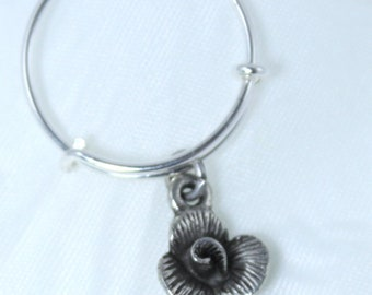 adjustable dangle ring charm floral small ring Simply gift for her daughter jewelry stackable expandable