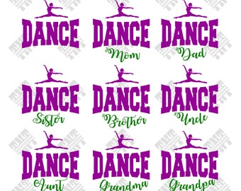 Dance svg - Dance Family svg - Dance Family vector - Dance Family digital clipart for Print, Design or more, files download svg, png, dxf