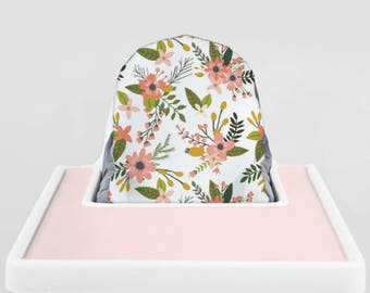 Sprigs and Blooms // IKEA Antilop Highchair Cover // High Chair Cover for the KLÄMMIG  or PYTTIG Cushion // Pillow Slipcover