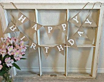 BIRTHDAY bunting, Happy Birthday Garland, Birthday Decoration, Birthday Party Decor, Birthday Photo Prop, Mini Happy Birthday Banner