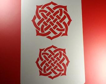 Stencil Celtic knot Braid-BA34