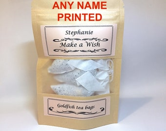 Personalized Gifts 3 Goldfish Tea bags Name Gift for Best Friend Personalised Gifts for Her tea lover gifts Novelty gift Tea Gift Set