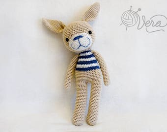 Funny smiling bunny, crochet rabbit, crochet bunny, Stuffed rabbit toy, amigurumi rabbit, Bunny nursery decor