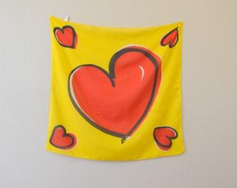 1980s Pop Heart Scarf