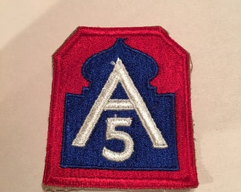 Vintage US Army Patch 5th army corps