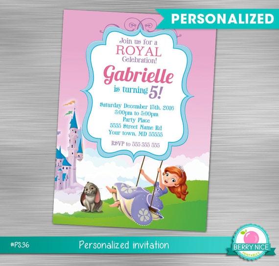 Sofia the first invitation print yourself princess birthday solutioingenieria Image collections
