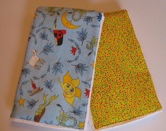 Mother Goose burp cloths, Set of 2, Free Shipping